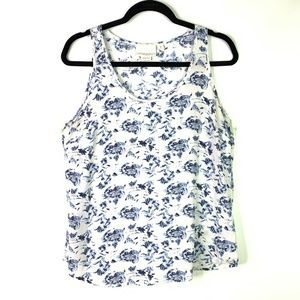 Cynthia Rowley 100% Silk Floral Blouse top